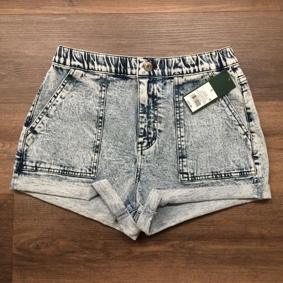 high waisted elastic shorts